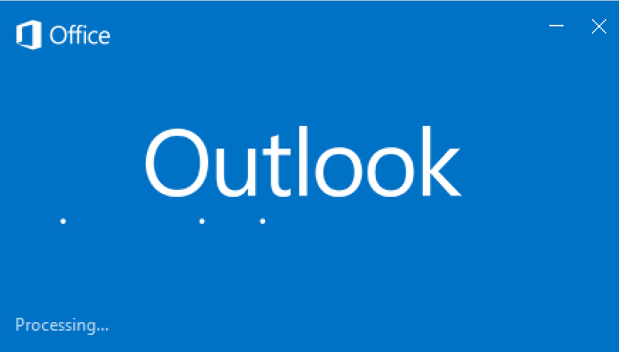 image of Outlook loading screen