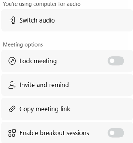 image of additional options