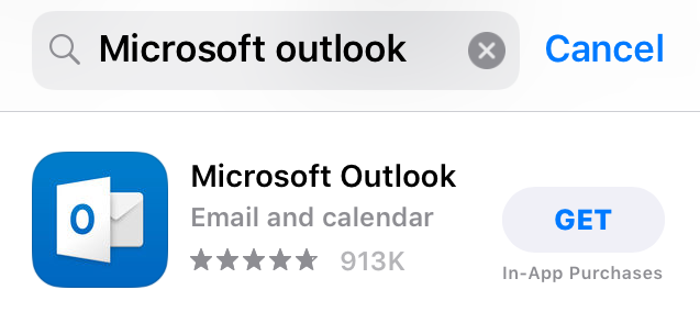 Microsoft Outlook in the App Store