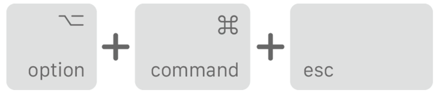 option, command, and escape buttons